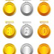 Royalty-Free Stock Vector Image: Medal Set