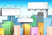 Bill Board in City — Stock Vector