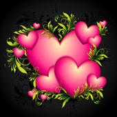 Barevné srdce — Stock vektor