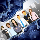 Corporate Team — Stock Vector