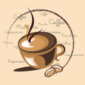 Heißen kaffee — Stockvektor