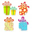 Gift Sticker — Stock Vector