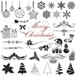 Royalty-Free Stock Vector: Vintage Design elements for Christmas