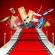 Red Carpet Entertainment — Stock Vector