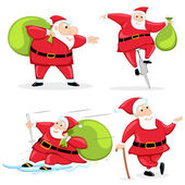 Santa with Christmas Gift — Stock Vector