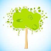 Eco friendly Tree — Stock Vector