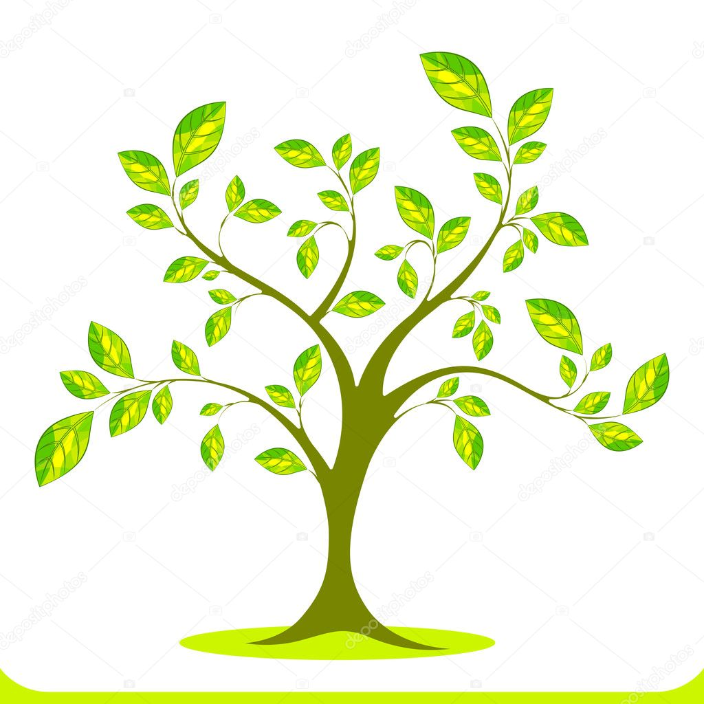 Illustration of growing tree on white background  Stock Vector #7765729