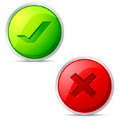 Right and Wrong Icon — Stock Vector
