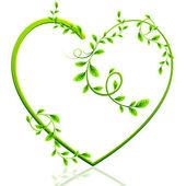 Green Heart — Stock Vector