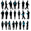 Silhouette of Business — Image vectorielle