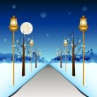 Winter Street — Stock Vector
