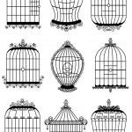 jaula de pájaro — Vector de stock
