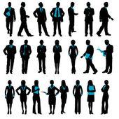 Silhouette der business — Stockvektor