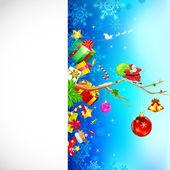 Christmas Decoration on Card — Stock Vector