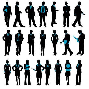Silhouette of Business