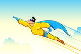 Flying Superhero — Vettoriale Stock