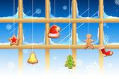 рождественское украшение — Cтоковый вектор