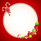 Christmas Candy Card — Stock Vector