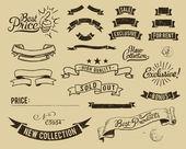 Jeu d'icônes de vente vintage — Vecteur