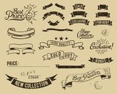 Vintage sale icons set — Vecteur