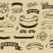 Vintage sale icons set — Stock vektor