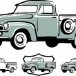 Vintage pick up truck — Stock Vector #6985793