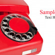 Old red telephone — Stock Photo #6821075