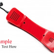 Retro red telephone — Stock Photo