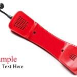 Retro red telephone — Stock Photo