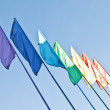 Rainbow colored flags — Stock Photo
