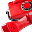 Stock Photo: Old and red telephone