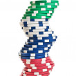 Stacks of poker chips — Foto Stock