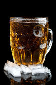 Cold beer with ice — Stock Photo