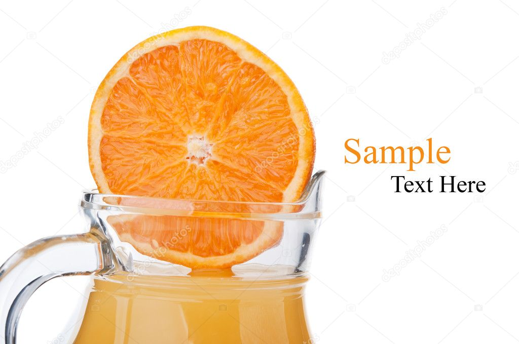 Fresh orange fruit and juice isolated on a white background — Stock Photo #7236481
