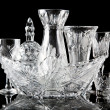 Стоковое фото: Collection of crystal dishes