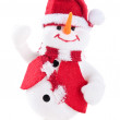 Jolly snowman — Stock Photo