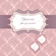 Frame for an invitation in pink. Tags for capitalization. Used for the back — Stock vektor