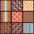 Options seamless patterns for the fabric. Drawing on the basis of points an — Stockvektor