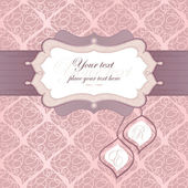 Frame for an invitation in pink. Tags for capitalization. Used for the back — Stock Vector
