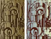 Kreslené pozadí textury — Stock vektor