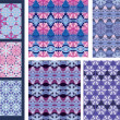 A set of seamless background and textile designs — Stock Vector