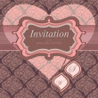 Vintage frame for an invitation to a seamless background. Wedding theme. He - Stock Vector