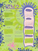 ポスター - しみ。2012 年のカレンダー. — ストックベクタ