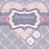 Frame for an invitation in pink. Used for the background seamless pattern.W — Stock Vector