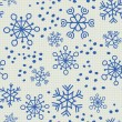 Children seamless pattern of snowflakes and dots. — Stock Vector