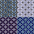 Options for seamless ornamental pattern. Vector background — Vecteur #7553581