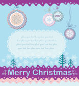 Festive Christmas background on the subject. — Stock Vector
