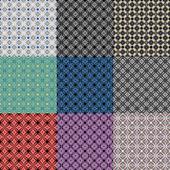 飾り台に基づいてシームレス パターンのオプション. — ストックベクタ