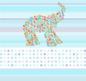 Květinové sloni greethings karta tapety pozadí v etnickém stylu — Stock vektor