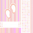 Baby girl announcement card background — Stock Vector